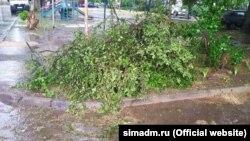 Последствия непогоды в Симферополе, 29 мая 2021 года