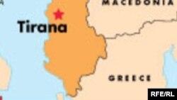 Мапа на граничниот предел меѓу Грција и Албанија