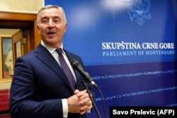 Long-ruling Montenegrin President Milo Djukanovic is expected to seek reelection in 2023. (file photo)