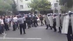 Массовые протесты в азербайджанском Мингячевире