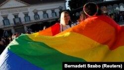 """Në Budapest ka pasur protesta kundër ligjit """"anti-LGBT"""" në muajin qershor."""