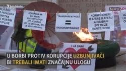 Protest uzbunjivača u Sarajevu