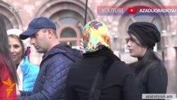 İranlı turistlər Yerevanda...