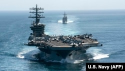 The aircraft carrier USS Nimitz (file photo)