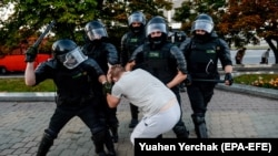 Протести во Белорусија.