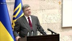 Порошенко заявив, що на фронті нарешті встановилася повна тиша