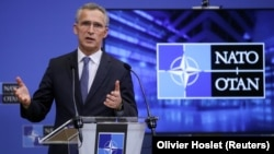 "NATO Secretary-General Jens Stoltenberg expressed ""serious concern about Russia's military activities in and around Ukraine."""
