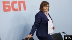 Лидерката на БСП Корнелия Нинова. Снимката е архивна.
