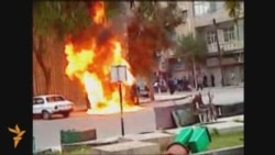 Syrian Protesters Torch Party Headquarters