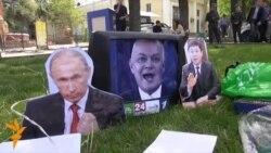 В Бишкеке протестовали против вступления в Таможенный союз