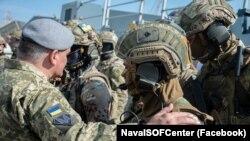 Военнослужащие 73 Морского центра специального назначения сил спецопераций (ССО) Вооруженных сил Украины