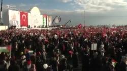 Istanbulda Fələstinə dəstək mitinqi. Erdogan: 'Ey Trump...'