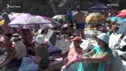 В Сімеїзі відбулися змагання із кліфф-дайвінгу (відео)