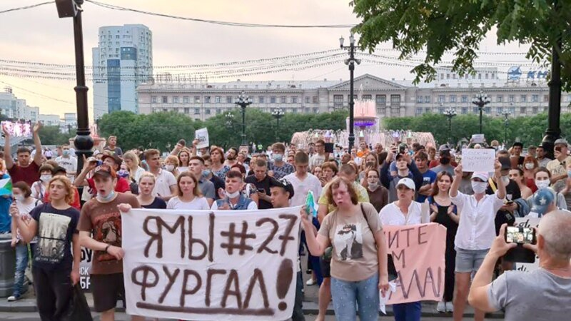 """Kreml şok bolýar"": Protestler Russiýanyň Uzak Gündogaryny sarsdyrýan mahaly, Moskwa jogap bermäge çalyşýar"