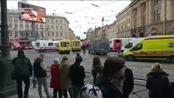 Sank Peterburgdaky partlamada birnäçe adam öldi