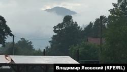 Горный Алтай. Вид из деревни Аскат