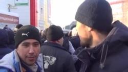 ОМОН разогнал мигрантов в Томске