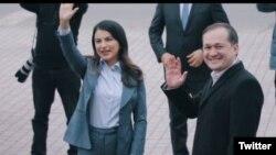 Komil Allamjonov va prezidentning to'ng'ich qizi Saida Mirziyoyeva juftligi, AOKAni bir yilcha boshqargan.