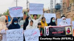 اعتراضات در پیوند به اختطاف و شکنجه سلسله علی خیل دختر سفیر افغانستان در پاکستان، در شهر پیشاور