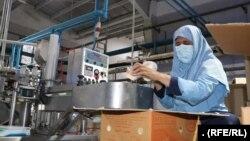 حلیمه احمدی، یکی از کارگران در شهرک صنعتی هرات است.