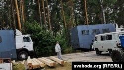 Лагерь возле Слуцка, примерно в 100 километрах к югу от Минска, был до этого медицинским вытрезвителем.