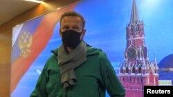"Алексей Навальный Москванын ""Шереметьево"" аэропортунда, 17-январь, 2021-жыл."