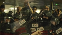 Policija izbacila demonstrante iz RTS-a