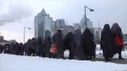 Kazakh 'Gray Mass' Protests Bank Loan Policies