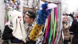 Mock Battle, Evil Spirits At Pagan Christmas Festival