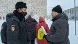 Акция в поддержку Алексея Навального в Архангельске