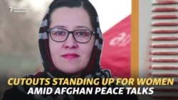 Cutouts Standing Up For Women In Afghan Peace Talks