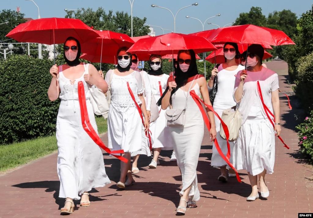 Женская акция протеста. Минск, 21 июня 2021 года
