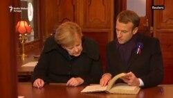 Makron i Merkel u vagonu vrhovnog komandanta Saveznika