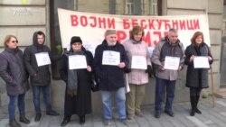 Protest vojnih beskućnika