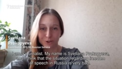 Briefly...Russia's Svetlana Prokopyeva On Media Freedom