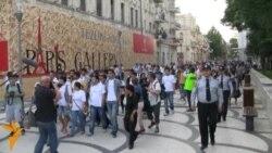 """Bakıda """"Demokratiya gəzintisi"""""""