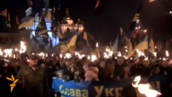 Thousands March In Kyiv For Divisive Nationalist Hero