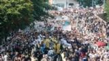 Шествие поддерживаемой Москвой Украинской православной церкви на Владимирской горке в Киеве, 27 июля 2021 года
