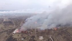 Пожар на складе в Балаклее. Видео с беспилотника
