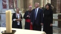 Дональд і Меланія Трамп відвідали Сикстинську капелу і базиліку Святого Петра (відео)