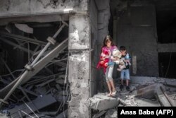 Газа секторындағы қираған ғимарат. 17 мамыр 2021 жыл.