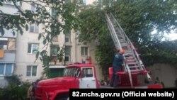 Пожар в пгт Грэсовский, 5 августа 2021 года