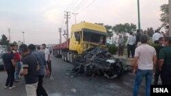 عکسی که خبرگزاری ایسنا از این حادثه منتشر کرده است