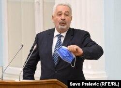 Montenegrin Prime Minister Zdravko Krivokapic (file photo)