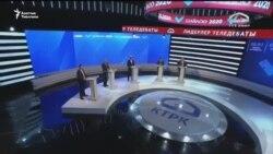 """Жарык өчкөн дебатта """"чымчылашкан"""" лидерлер"""