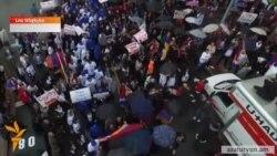 Բողոքի ցույց Լոս Անջելեսում ի պաշտպանություն Լեռնային Ղարաբաղի