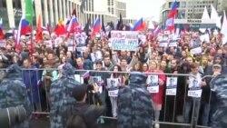 Мітинг у Москві. Oxxxymiron та «Кровосток» приєднались до протестувальників (відео)