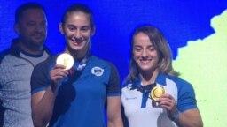 Kosovar Gold Medalist Judokas Welcomed Home From Olympics