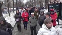 Moskva: Marš solidarnosti za nevladinu aktivistkinju