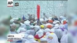 Hajj Pilgrims 'Stone The Devil' In Mecca